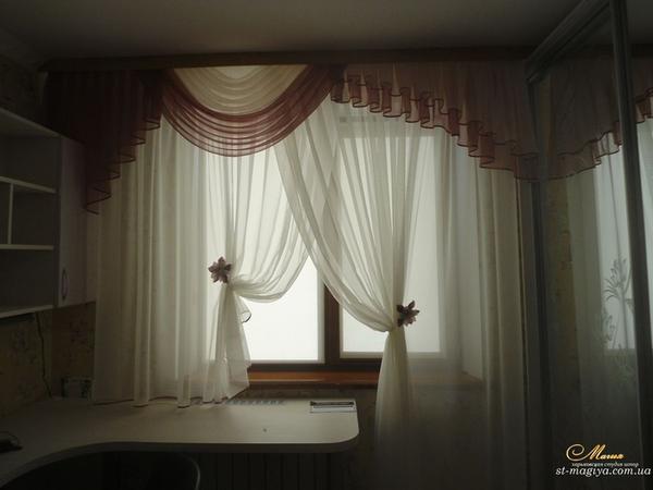 Кухонные шторы в Харькове, выполненые на заказ