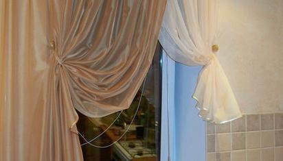 Заказать шторы с подборами на кухню в Харькове