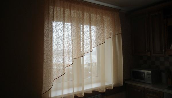 Шикарные кухонные шторы на заказ от студии дизайна и пошива штор