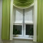 Стильная зеленая штора